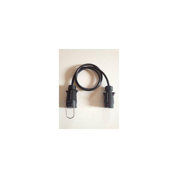 Forlænger kabel længde 3 m. et 7 Polet han og et 7 polet hunstik.