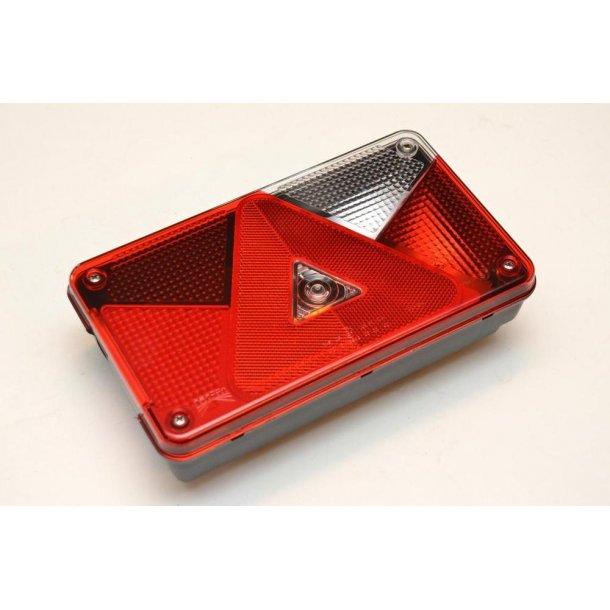 Aspöck Multipoint V Trailer Baglygte Højre side med 8 polet stik og baklys. Lev. incl pærer. Mål : 240 x 140