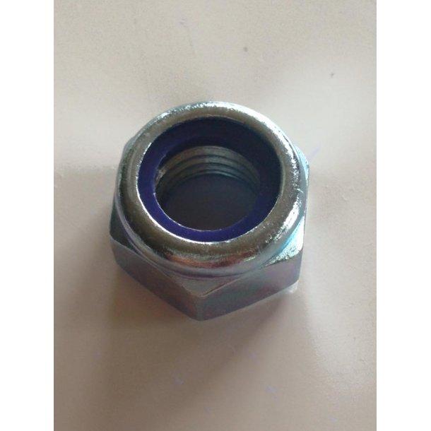 12 mm Møtrik selvlåsende, Galvaniseret