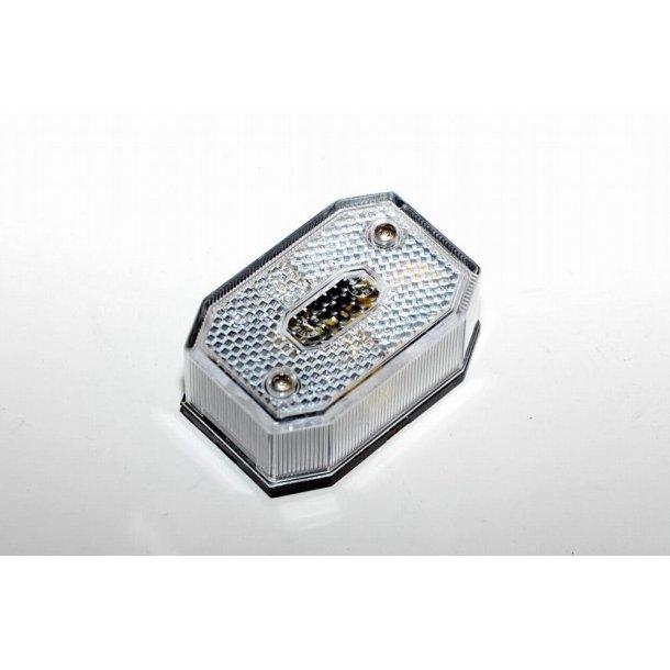 Aspöck Positionslygte Hvid Type Flexpoint. Mål : 65 x 44 x 23 mm. Lev. uden pære. Pære der passer til : Pinolpære 11 x 38 mm.