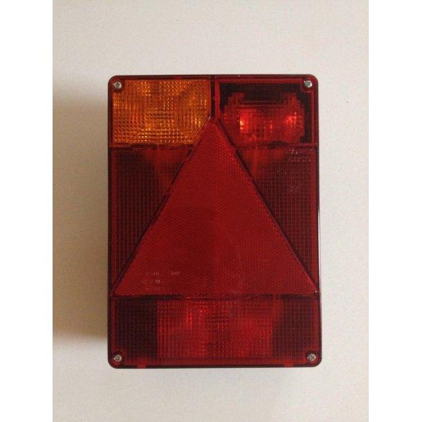 Radex 6800 Multifunktions Baglygte Glas model 6800/01 Venstre side. Mål : B 160 mm H 220 mm T 16 mm