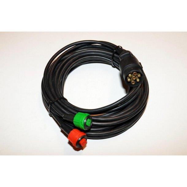 Radex 6 m dobbelt kabel. 7 p. stik til bilen + 2 x 5 p. multi stik