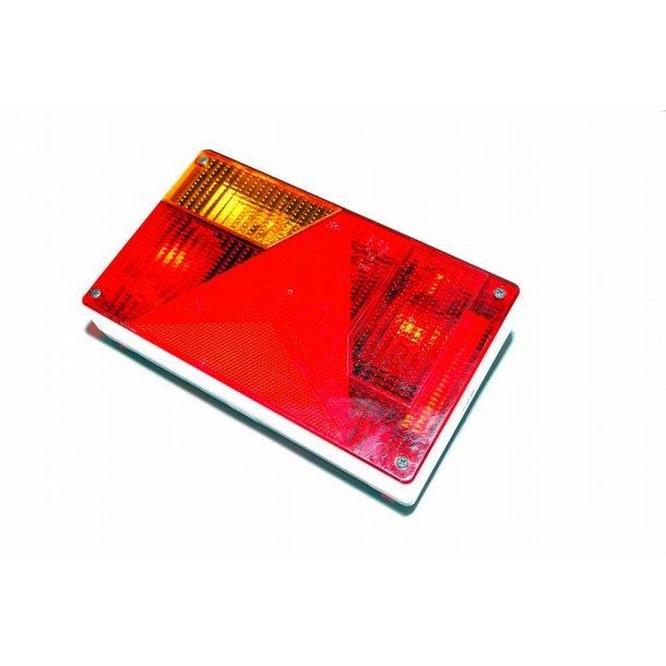 Jokon Trailer baglygte Type BBSKN 595 Venstre side med 5 polet multistik og pærer monteret, trekant reflektor. Mål : 235 x 135 x 50 mm