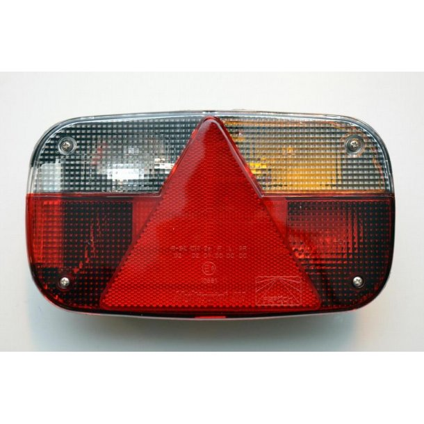 Aspöck Multipoint III højre Baglygteglas med trekant reflektor, Mål : 240 x 140 x 52 mm