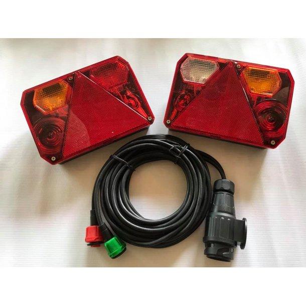 Radex 6400 lygtesæt med 2x4 m kabel og 13 polet stik til bilen