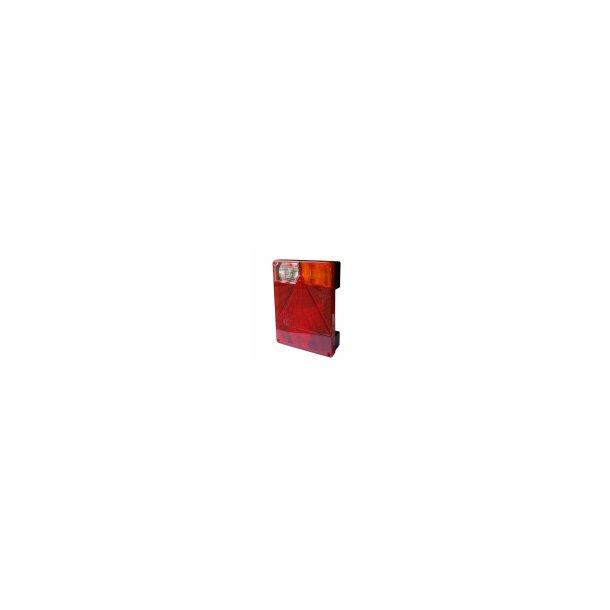 Radex 6800 glas til Multifunktions Baglygte Højre side med baklys. Mål : B 160 mm H 220 mm T 16 mm.